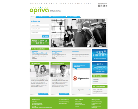 Apriva Website & Datenbank