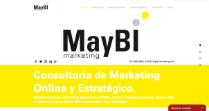 Diseño Web - MayBi Marketing