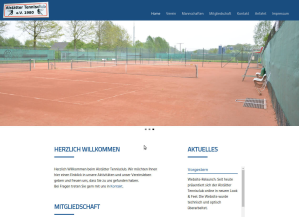 Website-Relaunch für den Alstätter Tennisclub
