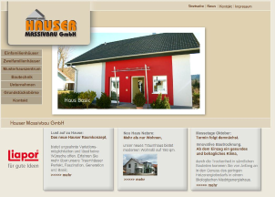 Website Hauser Massivbau