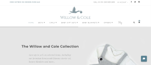 Willow & Cole - E-Commerce Store of New Born Babies