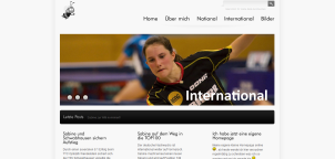 Private Website for Tabletennis Player