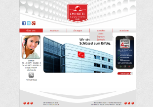 CM Hotel Solutions Webseite