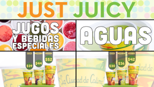 Menus virtuales para Just Juicy