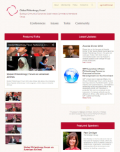 Global Philantropy Forum ist ein Community Web-Portal