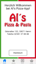 iOS/Android App Al's Pizza